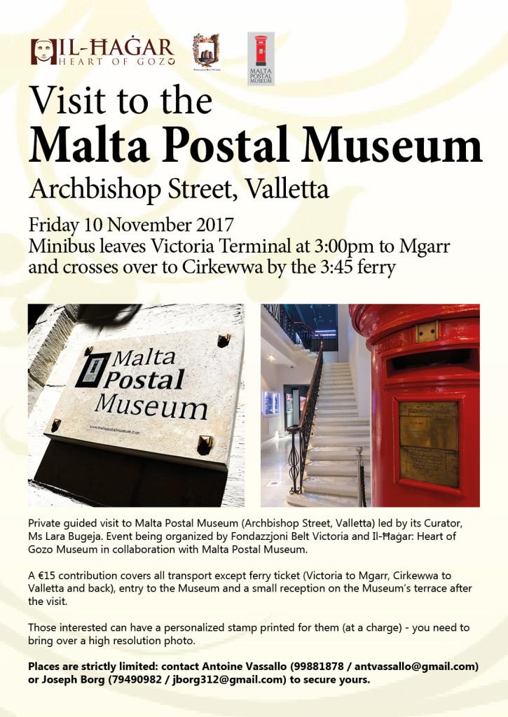 ORGANISED VISIT TO THE MALTA POSTAL MUSEUM