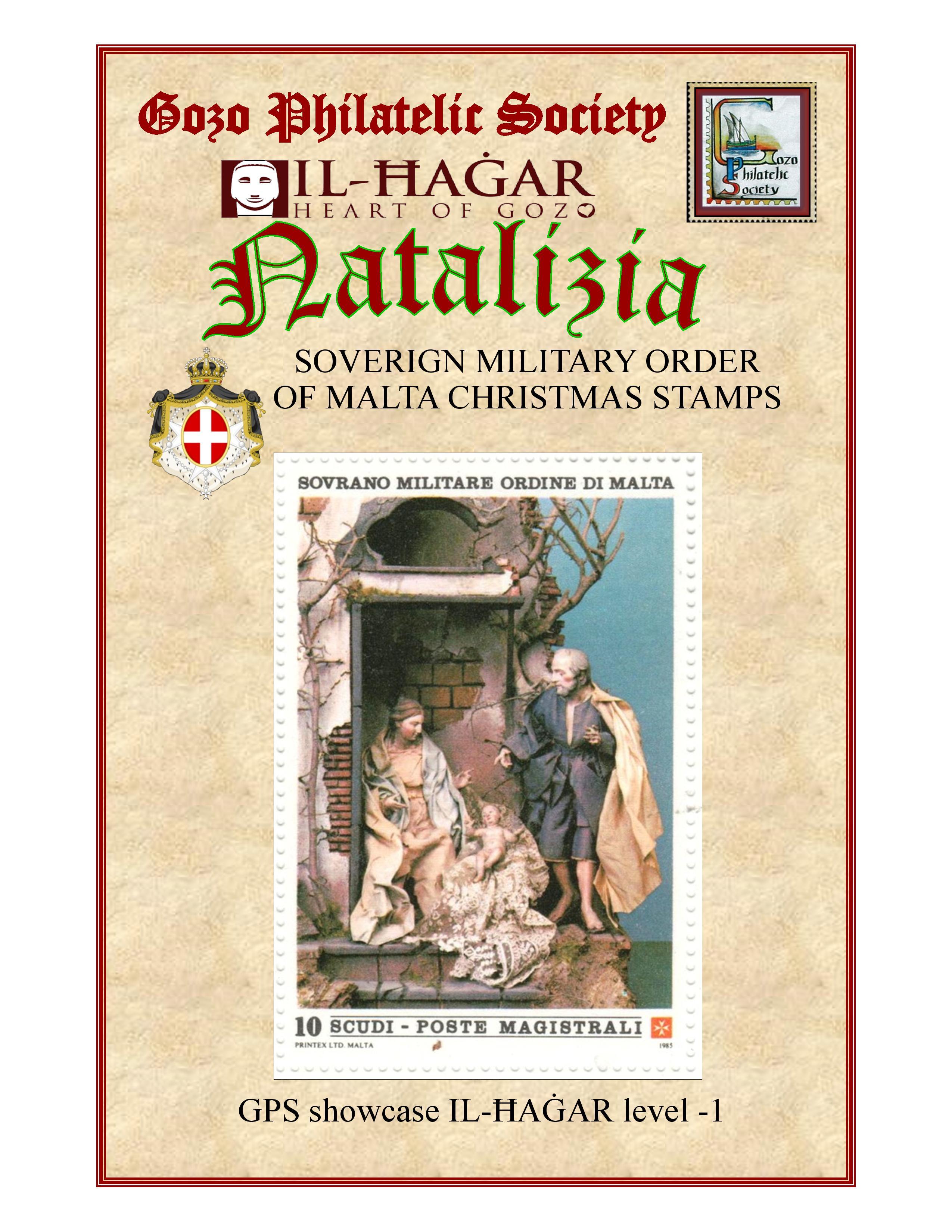 SMOM Christmas stamps at Il-Ħaġar