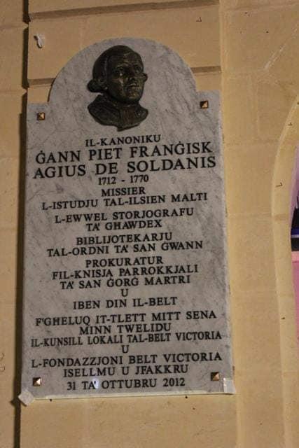 250 Anniversary of De Soldanis' Death