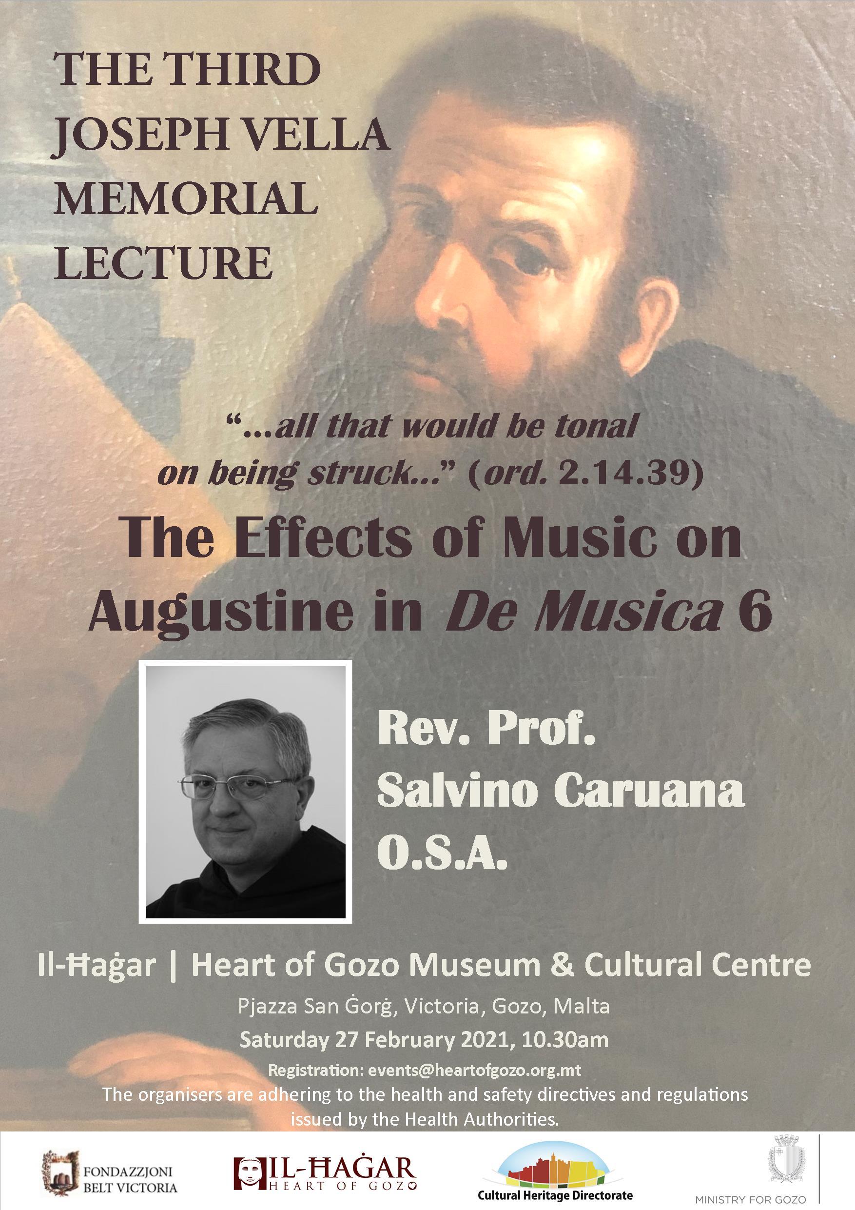 Third Joseph Vella Memorial Lecture